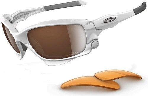 f6c11c9efe Oakley Jawbone Oo9089 Matte White Frame Vr28 Black Iridium Polarized +  Persimmon Set Lens Plastic Sunglasses  Amazon.co.uk  Clothing