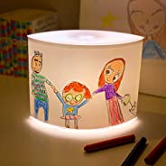 DIY 3-Stage Dimmer Table Lamp - Child Artwork Display NightStand Nightstand for Bedrooms