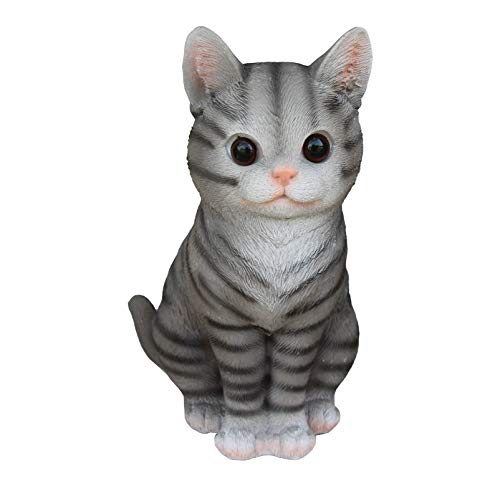 TABOR TOOLS Cat Sitting Ornament, Terrace Figurine, Miniature Statue, Cute Patio Kitten Figure, Outdoor Decor, Sculpture for Your Garden, Home or Office. DM422A. (Cat - Cat Statue Figurine