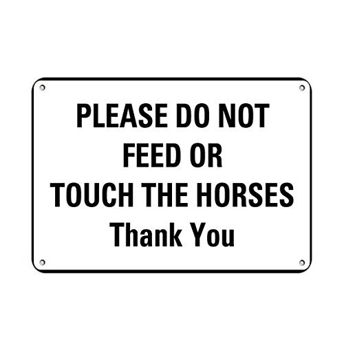 Sign Feed Tin Store (VictorJoan Please Do Not Feed Or Touch The Horses Thank You Farm Sign Aluminum Metal Sign Tin Sign 8 in x 12 in.)