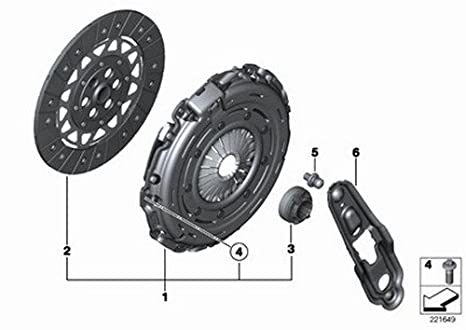 Amazon.com: Mini OEM Clutch Kit (228 mm) R55 R56 R57 21 20 7 572 843 Cooper S Cooper S Cooper S: Automotive