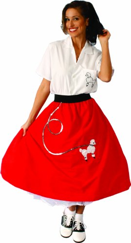 Red Poodle Skirt Costumes (Alexanders Costumes Poodle Skirt, Red, One Size)