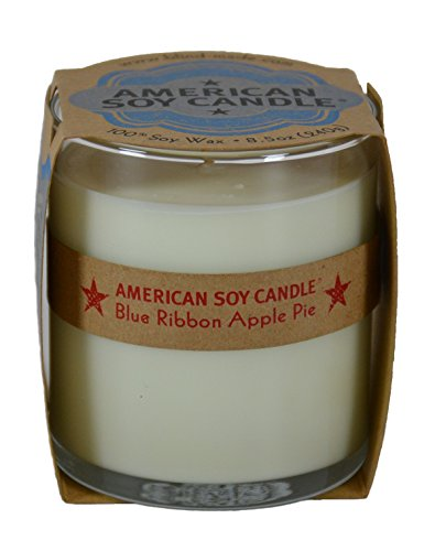 American Soy Candle Blue Ribbon Apple Pie All Natural 100% Soy Wax Candle (Scented Gardens For The Blind)
