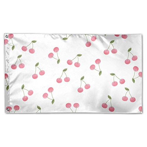 Garden Flag Cerezas Pictuer Outdoor Yard Home Flag Wall Lawn Banner Polyester Flag Decoration 3' x 5' ()