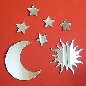 grupo de los espejos en forma de luna y estrellas