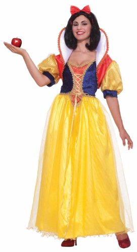 Forum Fairy Tales Fashions Snow White Costume, Yellow/Blue, Plus (Snow White Halloween Costume Adults)