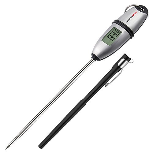 ThermoPro TP-02S 5 Seconds Instant Read Meat Thermometer Digital Cooking Food Thermometer with Long Probe for Grill Candy Kitchen BBQ Smoker ()