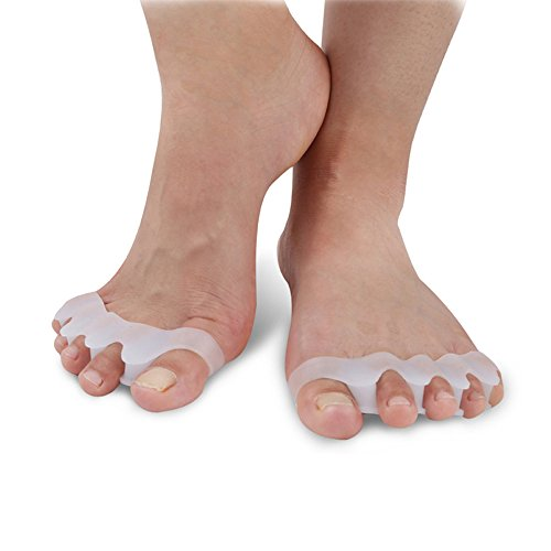 Maysky Gel Toe Separator/Spacers/Stretchers for Men and Women, Bunion Relief Easy Wear in Shoes, Alleviating Pain After Yoga and Sports ()
