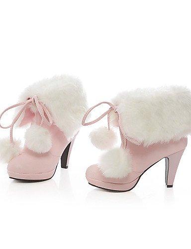 xzz/de zapatos de mujer talón talones/moda botas/botas botas boda/al aire libre/Casual negro/rosa/blanco, pink-us10.5 / eu42 / uk8.5 / cn43 pink-us8.5 / eu39 / uk6.5 / cn40