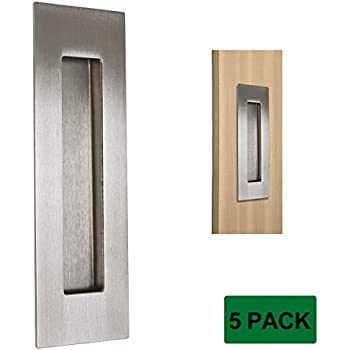 Probrico 6 Quot Brushed Nickel Rectangular Flush Pull 5 Pack