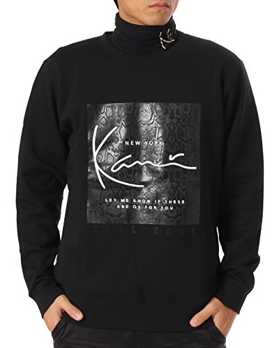 コーンサラミ耐久(カールカナイ ゴルフ) KarlKani GOLF トレーナー パイソンスクエア ロゴ スウェット シャツ 173KG1308 ブラック Lサイズ