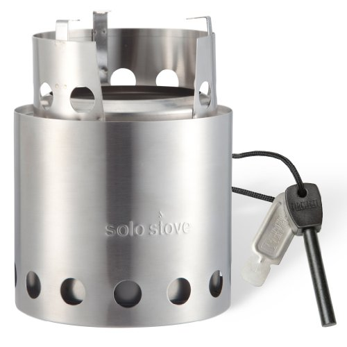 UPC 661799192729, Original Solo Stove w/ Swedish Army Firesteel: Ultra Light Weight Woodgas Backpacking Stove, Emergency Survival Stove, Wood Burning Camping Stove, Boy Scout Stove