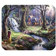 Snow White and 7 Dwarfs Personality Designs Gaming Mouse Pad,surface of the polyester prevent deformation [Natural rubber,Precision Fabric]£¨9.84x7.9 - White Sugar Dwarf