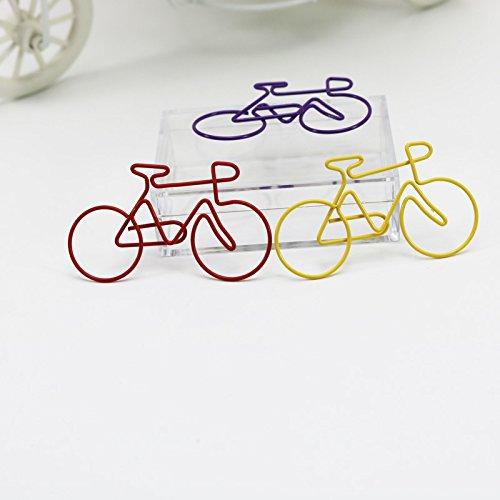 Graffette colorate in metallo a forma di bicicletta confezione da 50 pezzi Shoppingmoon