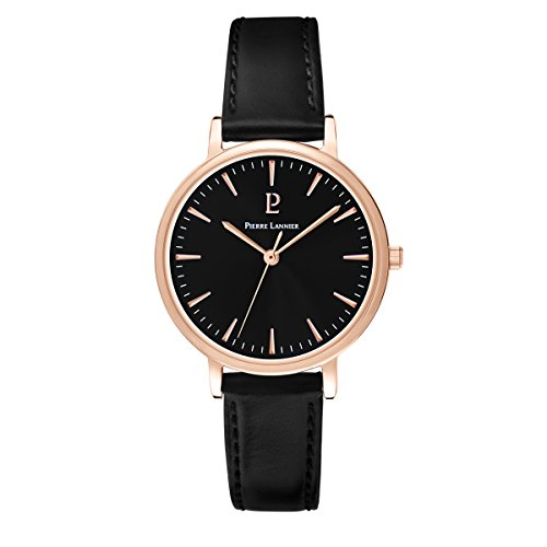 Pierre Lannier Symphony Black Leather Ladies Watch