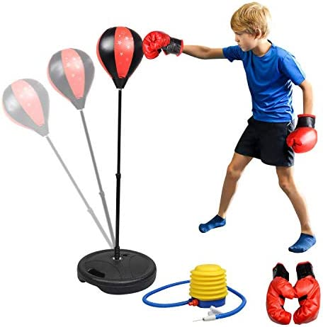Boxball Punching Ball Kinder Standboxsack Standboxball inkl Boxhandschuhe DE