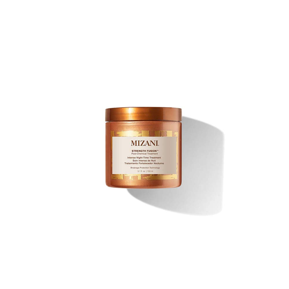 MIZANI Strength Fusion Intense Night-Time Treatment | Deeply Nourishing Hair Mask | With Shea Butter | For Curly Hair | 5.1 Fl. Oz.