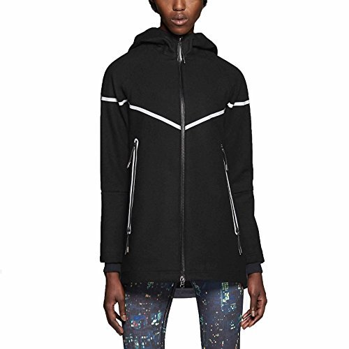 Nike Women's Wool Reflective Jacket-Black/White-Medium