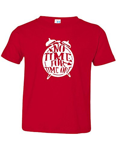 Price comparison product image Allntrends Toddler T Shirt No Time For Time Out Kids Funny T Shirt (4T, Red)