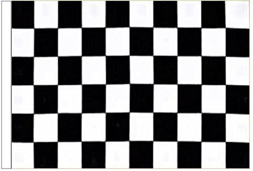 Black and White Check Sleeved Flag 3'x2' (90cm x 60cm) - Woven Polyester ()