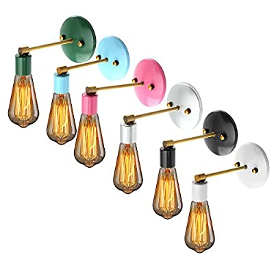 Jeteven Retro Vintage Antique Industrial Edison Wall Sconce Light Lamp Features for E27 Bulbs (Bulb not included)