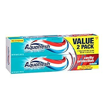- Aquafresh Cavity Protection Flouride Toothpaste, 2 Pack, Cool Mint, 5.6 oz