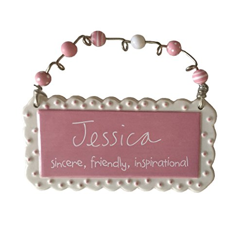 Sandra Magsamen Collection by Department 56-Personalized Ceramic Name Hanging Wall/Door Plaque & - Decorative Personalized Plaque