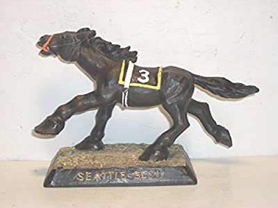 Kentucky Derby And Triple Crown Winner Seattle Slew Bobble Head In Box