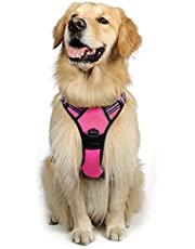 rabbitgoo Dog Harness, No-Pull Pet Harness with 2 Leash Clips, Adjustable Soft Padded Dog Vest, Reflective No-Choke Pet Oxford Vest with Easy Control Handle