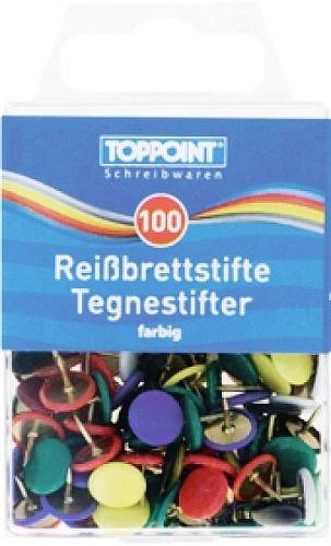 farbig sortiert 200 Herlitz Reißnägel Reißzwecken Heftzwecken