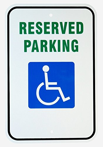 (1 Set Credible Unique Reserved Parking Handicap Sign Vehicles Warning Private Property Yard Decal Lawn Fine Tenant Visitor Cars Garage Placard Custom Only Outdoor Pass Poster Size 12