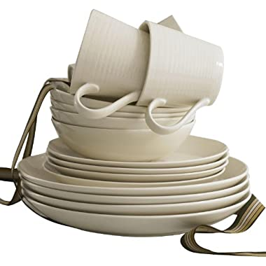 Gordon Ramsay by Royal Doulton Maze White 16-Piece Set