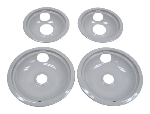 Whirlpool W10291024 Drip Pan Kit, Grey (4 W/ Burners)