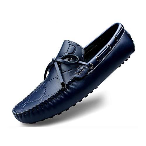 Caminan Azul Caída Blanco De Ligeros Deslizadores Hombres Cuero q70IY0