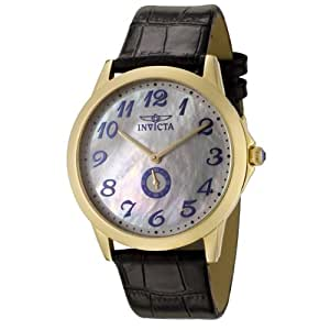 Invicta Men's 0396 II Collection Black Leather Watch