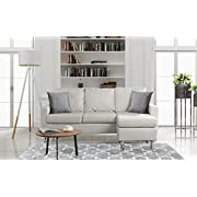 Divano Roma Furniture EXP-16 Modern Sectional, White
