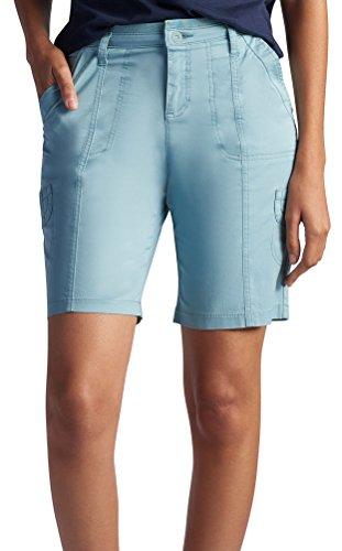 UPC 083624546888, Lee Women's Relaxed Fit Delaney Knit Waist Cargo Bermuda Short, Blue Sage, 6