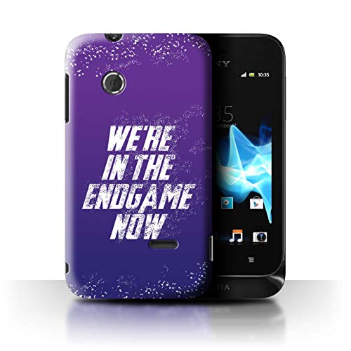 W3Tech Phone Case/Cover for Sony Xperia Tipo/ST21 / in The Endgame Now Design/Superhero Movie Quotes Art Collection (Endgame Tips)