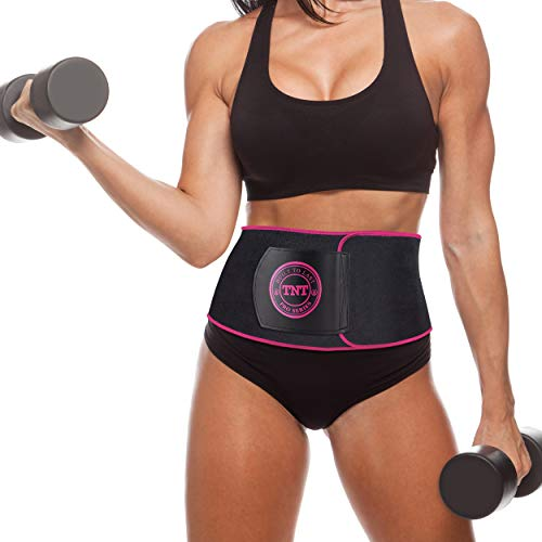 TNT Pro Series Waist Trimmer Weight Loss Ab Belt - Premium Stomach Fat Burner Wrap and Waist Trainer (Original) - Large Weight Loss