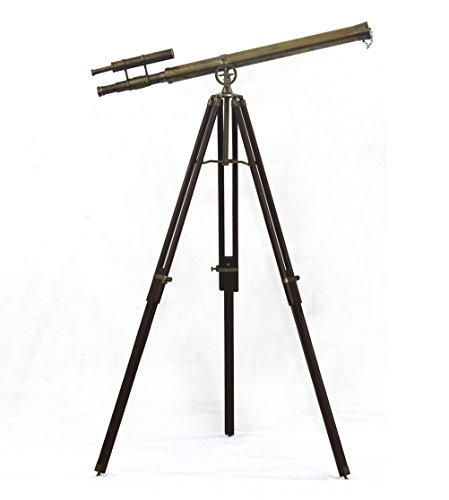 Collectibles Buy Brass Antique Telescope German Technology Telescope,Instruments Infinity Refactor Vintage Wooden Tripod Enjoy Steady Observation of Astronomy Sailor Article