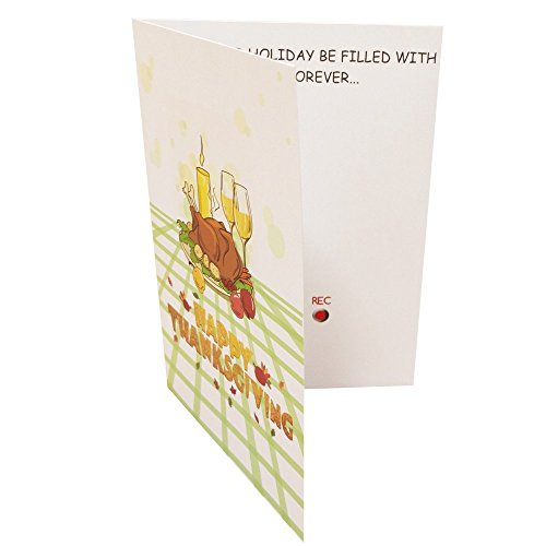 Thanksgiving Greeting card With Voice Message Recordable Function Personalized Pack of 2 Voice Message Card