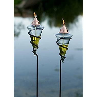 H Potter Garden Patio Torches (Set of Two)