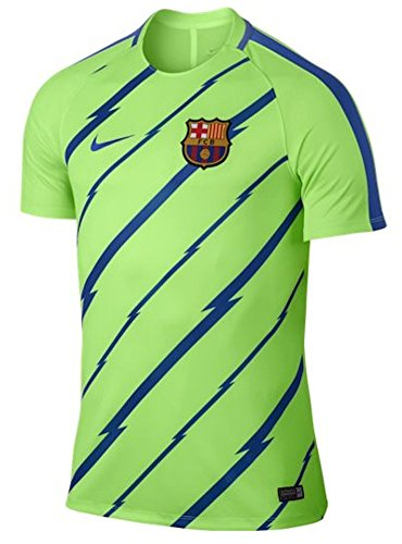 Nike Men's Barcelona NK Dry Squad Top SS GX Soccer Training Jersey (Sz. X-Large) Ghost Green