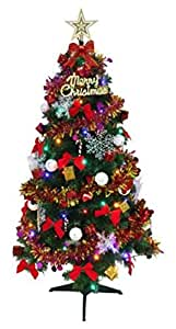 1.8m Merry Christmas Green christmas tree with 166pcs ornaments party supplies
