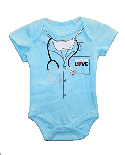 DOCTOR LOVE Baby Boys' Bodysuit Dress Up Outfit (3-6 Months) (Doctor Outfit)