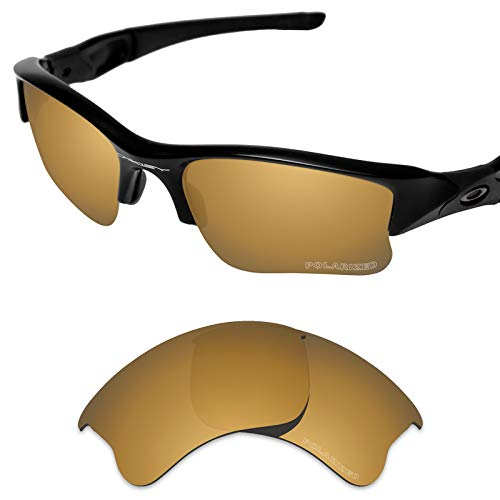 Tintart Performance Replacement Lenses for Oakley Flak Jacket XLJ Sunglass Polarized Etched-Tungsten Gold