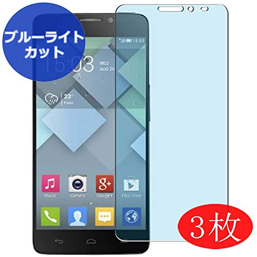 【3 Pack】 Synvy Anti Blue Light Screen Protector for Alcatel one Touch Idol x 6040 x6040 OneTouch Blue Light Blocking Screen Film Protective Protectors [Not Tempered Glass] New Version (Alcatel Idol X 6040 Screen)