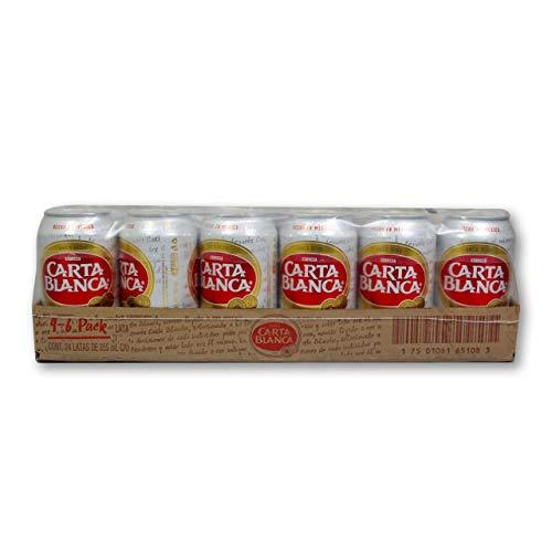 Cerveza Carta Blanca Lata - Caja con 4 Six Packs de 355 ml
