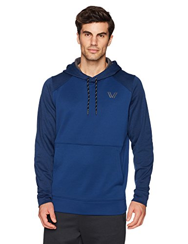 - Peak Velocity Men's Quantum Fleece Pull-Over Loose-Fit Hoodie, victory blue heather/victory blue, X-Large