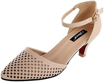 600902a5aca SHERRIF SHOES Beige Kitten Heel Sandals(33